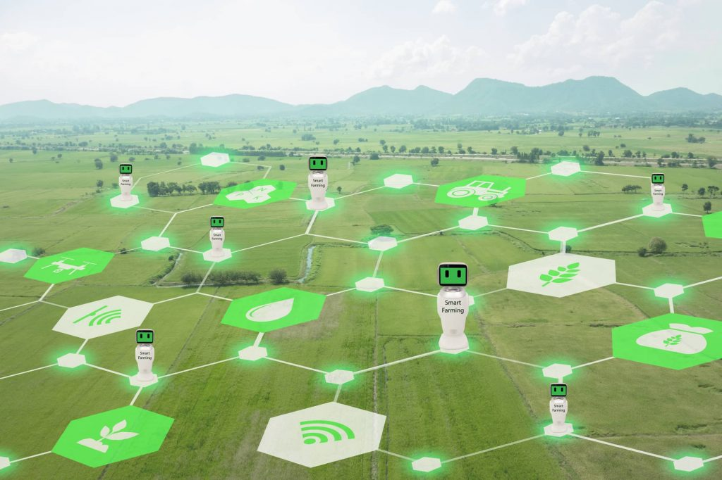 Modern agriculture technology -, IoT used for monitoring systems in horticulture