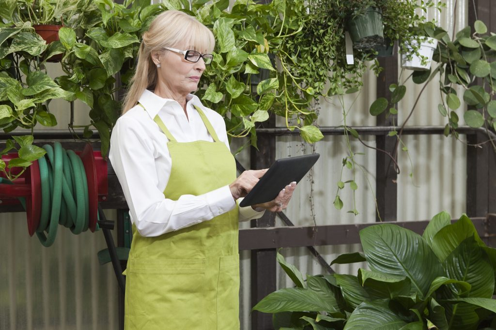 Gardener using data driven solution in greenhouse