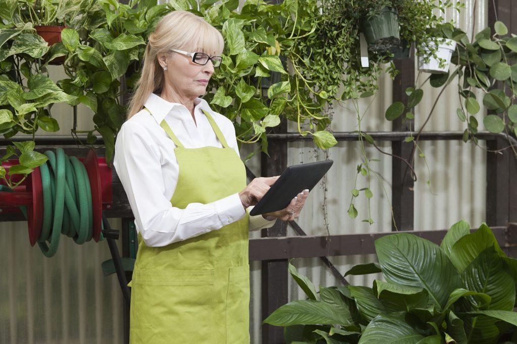 Gardener using data driven solution in greenhouse